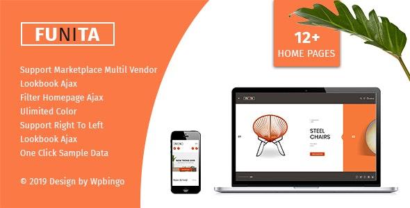 Funita - Multi Vendor WooCommerce Furniture Theme 1