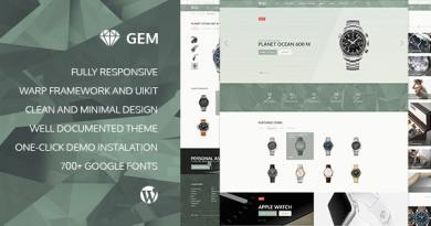 Gem — Luxury eCommerce Responsive WordPress Theme 2