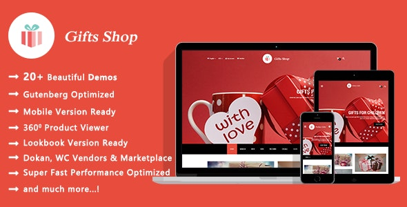 Gifts Shop | Handmade Souvenirs WooCommerce WordPress Theme 1