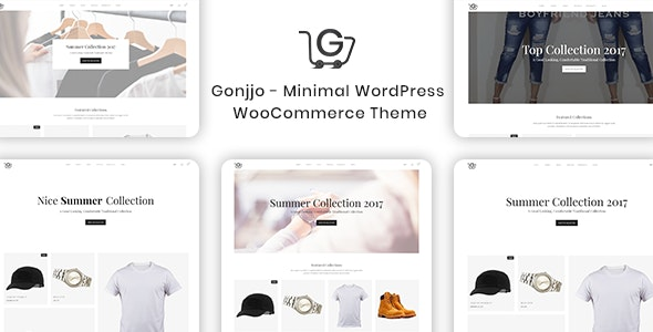 Gonjjo - Minimal WooCommerce WordPress Theme 1