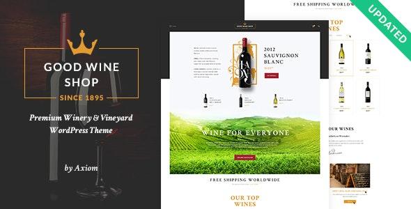 Good Wine   Vineyard & Winery Shop WordPress Theme 1