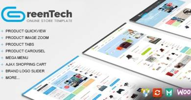 GreenTech - Shopping Responsive WooCommerce Theme 1
