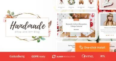 Handmade Shop - Handicraft Blog & Creative Store WordPress Theme 5