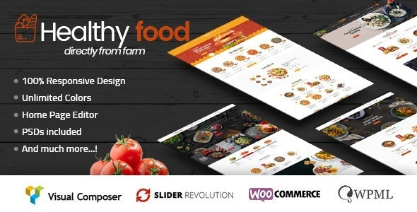 HealthyFood - Food & Organic WooCommerce Theme (RTL Supported) 1