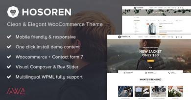 Hosoren - Clean & Elegant WooCommerce Theme 3