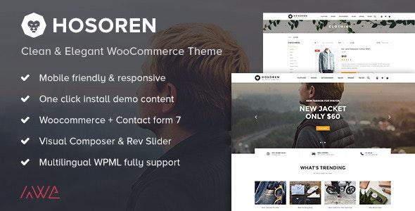 Hosoren - Clean & Elegant WooCommerce Theme 1