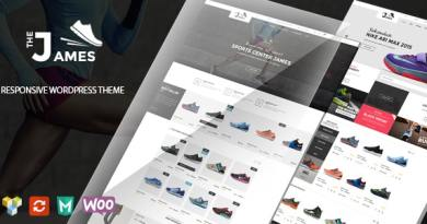 James - Responsive WooCommerce Shoes Theme 3