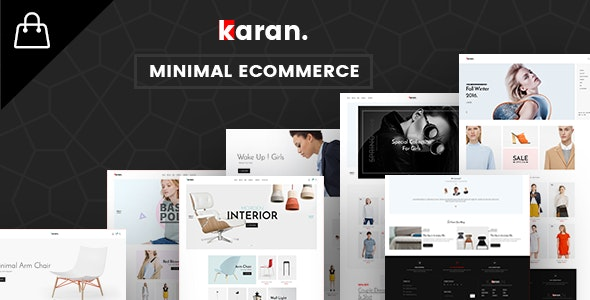 Karan - Minimal Fashion Responsive WordPress Theme 1
