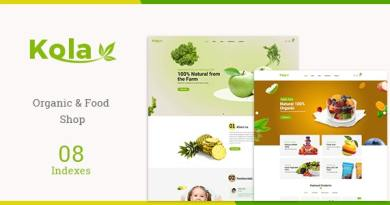 Kola - Organic & Food WooCommerce WordPress Theme 4