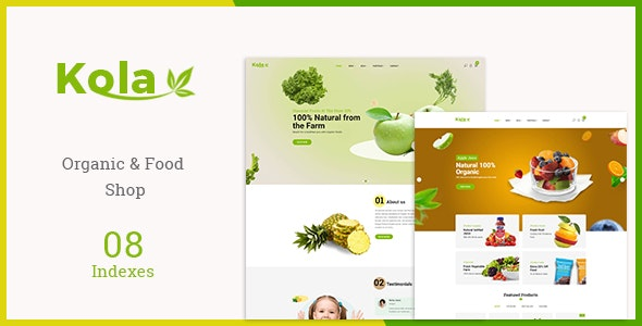 Kola - Organic & Food WooCommerce WordPress Theme 2