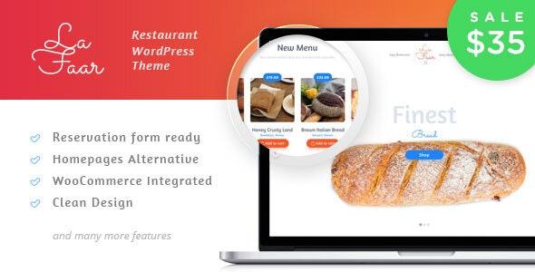 Lafaar - Restaurant & Food Menus WooCommerce Theme 1