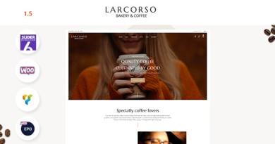 Larcorso - Coffee Shop WooCommerce Theme 2