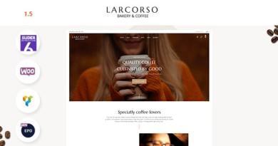 Larcorso - Coffee Shop WooCommerce Theme 3