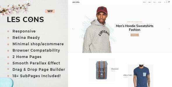 Lescons - Minimal WooCommerce Theme 1