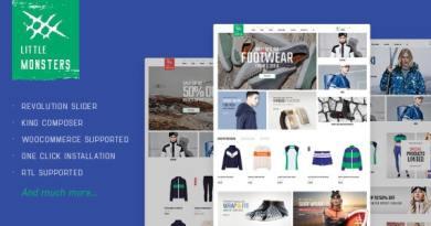 Littlemonsters - Sport Shop WooCommerce WordPress Theme 4