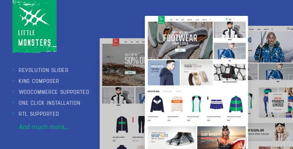 Littlemonsters - Sport Shop WooCommerce WordPress Theme 1