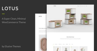 Lotus - Modern Minimal WordPress WooCommerce Theme 4