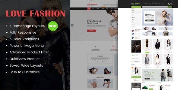 Love Fashion - Responsive Multipurpose WordPress Theme 1