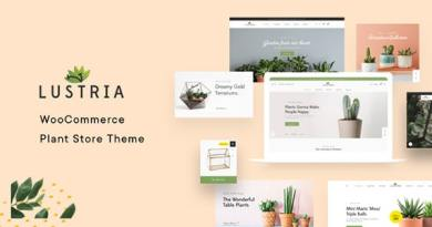 Lustria - MultiPurpose Plant Store WordPress Theme 4