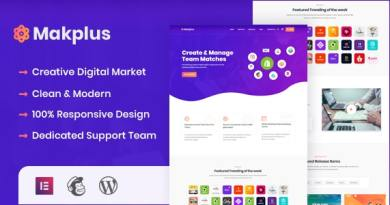 Makplus - Digital Marketplace WordPress Theme 3