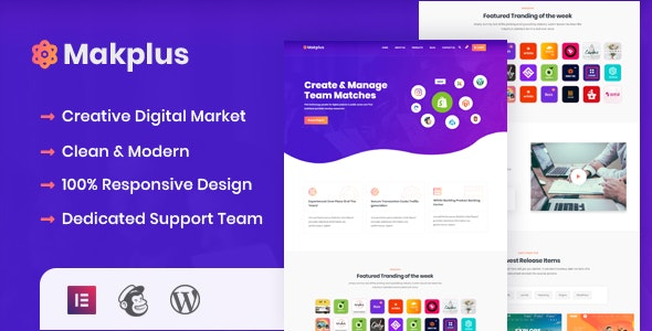 Makplus - Digital Marketplace WordPress Theme 2