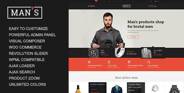 MAN'S - eCommerce Business WordPress Theme 10