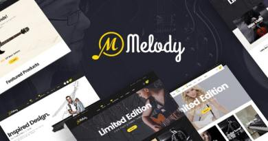 Melody - WordPress Theme for Musical Instruments 2