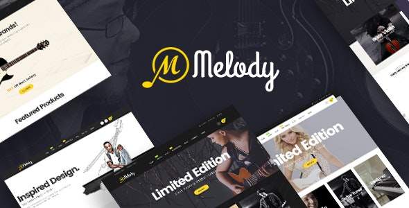 Melody - WordPress Theme for Musical Instruments 1