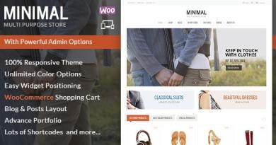 Minimal Multi Purpose - WooCommerce Theme 4