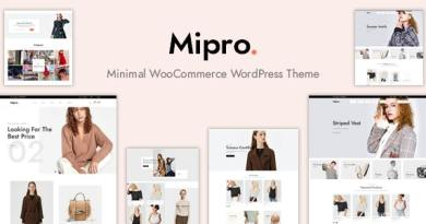 Mipro - Minimal WooCommerce WordPress Theme 3
