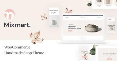 Mixmart - Handmade Shop WordPress WooCommerce Theme 2