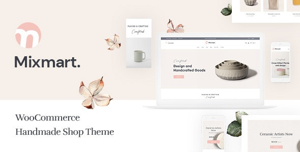 Mixmart - Handmade Shop WordPress WooCommerce Theme 1
