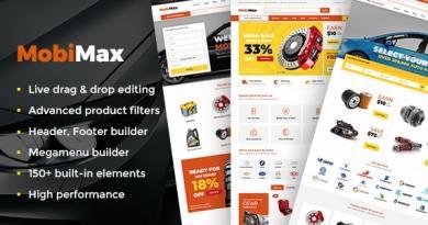 Mobimax - Auto Parts WordPress Theme + WooCommerce Shop 4