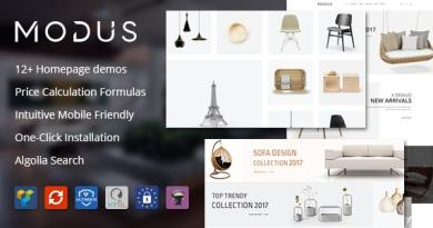 Modus - Modern Furniture WooCommerce Theme 3