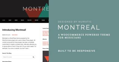 Montreal - WooCommerce Powered Music Theme 3