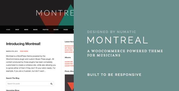 Montreal - WooCommerce Powered Music Theme 1