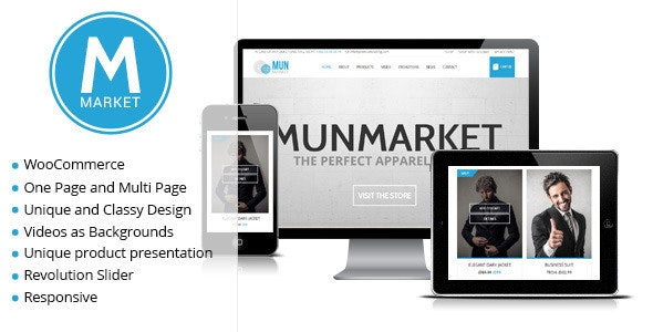 Munmarket - A One and Multi Page Ecommerce Theme 1