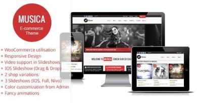 Musica - Responsive WordPress WooCommerce Theme 3