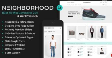 Neighborhood - Responsive Multi-Purpose Shop Theme 3