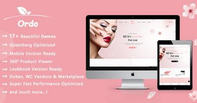Ordo | Natural Cosmetic WooCommerce WordPress Theme 3