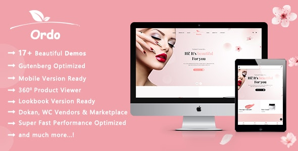 Ordo | Natural Cosmetic WooCommerce WordPress Theme 1
