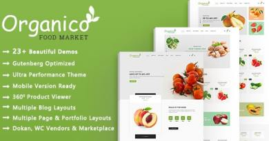 Organico | Organic Food WooCommerce WordPress Theme 3