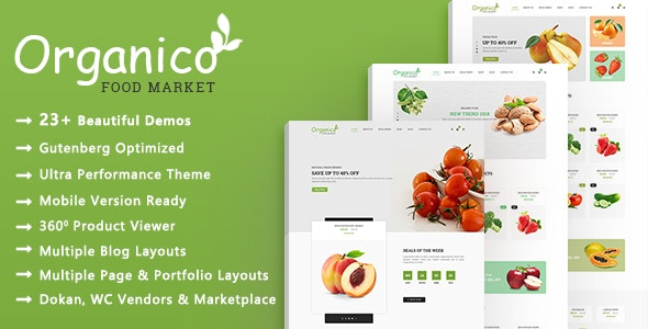 Organico | Organic Food WooCommerce WordPress Theme 1