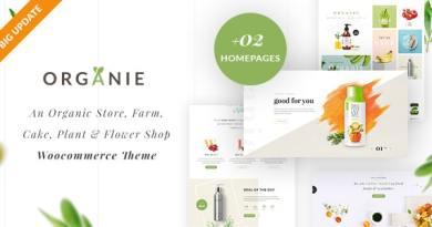 Organie - Organic Store & Food WooCommerce Theme 3