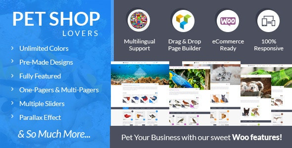 Pet Shop Lovers - Woo/eCommerce WP Theme 1