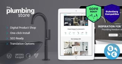 Plumbing and Building Parts, Tools & Accessories Store WordPress Theme 4