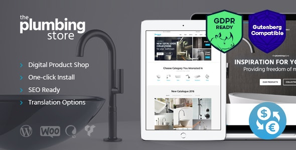 Plumbing and Building Parts, Tools & Accessories Store WordPress Theme 5