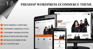 PreShop - Responsive WooCommerce Wordpress Theme 3