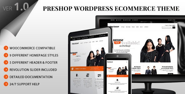 PreShop - Responsive WooCommerce Wordpress Theme 7