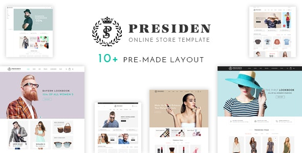 Presiden - Multi Kinds Store Responsive WordPress Theme 1